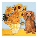 MP-SUNFLWRS-LHDAchs-Sable.png Square Car Magnet 3