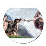 5.5x7.5-Creation-DobiePR-BZ.png Round Car Magnet