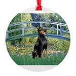 MP-BRIDGE-Dobie1.png Round Ornament