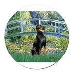 MP-BRIDGE-Dobie1.png Round Car Magnet