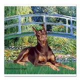 3-MP-BRIDGE-Dobie-Red-Sheena.png Square Car Magnet