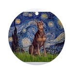 MP-STARRY-Dobie-Red-Sheenasit.png Ornament (Round)