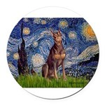 MP-STARRY-Dobie-Red-Sheenasit.png Round Car Magnet