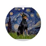 MP-Starry-dobie1.png Ornament (Round)