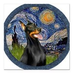 8x10-Starry-Dobie1.png Square Car Magnet 3