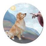 Gods Golden Retriever (#11) - SFP.png Round Car Ma