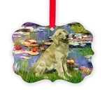 TILE-LILIES2-GoldBanjo1-light.png Picture Ornament