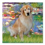 MP-Lilies-GoldBoomr.png Square Car Magnet 3