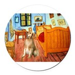 5.5x7.5-ROOM-Golden5j.png Round Car Magnet