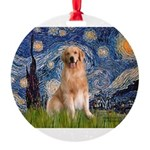 5.5x7.5-Starry-Golden8.png Round Ornament