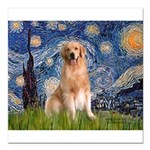 5.5x7.5-Starry-Golden8.png Square Car Magnet 3