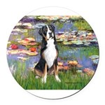 MP-Lilies2-GSMD1.png Round Car Magnet