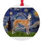 5.5x7.5-Starry-Greyt9.png Round Ornament