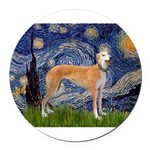 5.5x7.5-Starry-Greyt9.png Round Car Magnet