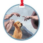 Creation/Labrador (Y) Round Ornament