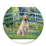 Bridge-YellowLab7.png Round Car Magnet