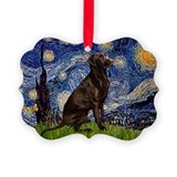 Starry Chocolate Lab Ornament