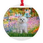 MP-GARDEN-Maltese-Rocky.png Round Ornament