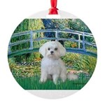 MP-Bridge-Maltese-Rocky.png Round Ornament