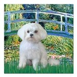 MP-Bridge-Maltese-Rocky.png Square Car Magnet 3