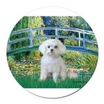 MP-Bridge-Maltese-Rocky.png Round Car Magnet