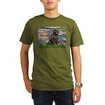 Lilies2-Newfie2 Organic Men's T-Shirt (dark)