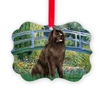 MP-BRIDGE-Newfie-Br... Picture Ornament