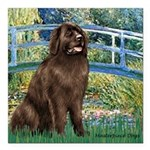 MP-BRIDGE-Newfie-Br... Square Car Magnet 3