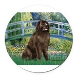 MP-BRIDGE-Newfie-Br... Round Car Magnet