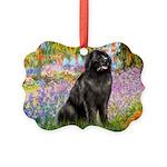 GARDEN-Newfie-Blk2.png Picture Ornament