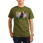 GARDEN-Newfie-Blk2.png Organic Men's T-Shirt (dark