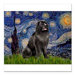 STARRY-Newfie-Blk2.png Square Car Magnet 3