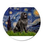 STARRY-Newfie-Blk2.png Round Car Magnet