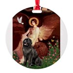 MP-ANGEL1-Newfie-Blk2.png Round Ornament