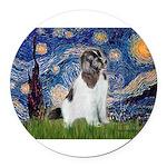 STARRY-Newfie-Landseer4.png Round Car Magnet