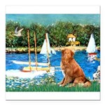 5.5x7.5Sailboats-NovaScotia2.png Square Car Magnet