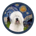 5.5x7.5-Starry-OES6.PNG Round Car Magnet