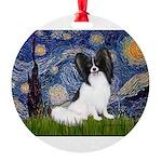 STARRY-Papi-Tri.tif Round Ornament
