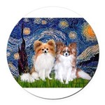 STARRY-PapiPAIR-both.png Round Car Magnet