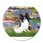 MP-LILIES2-Papi1.png Round Car Magnet