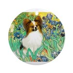 3-MP-IRISES-Papi5-fawn.png Ornament (Round)