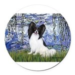 MP-LILIES6-Papi1.png Round Car Magnet