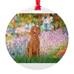MP-GARDEN-Poodle-ST-Apricot1.png Round Ornament