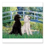card-Bridge-PoodlePR-ST.PNG Square Car Magnet 3