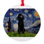 5.5x7.5-Starry-Pood-Blk-Paris.PNG Round Ornament