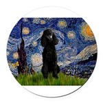 5.5x7.5-Starry-Pood-Blk-Paris.PNG Round Car Magnet