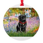 MP-GARDEN-M-Pug-Blk14.png Round Ornament