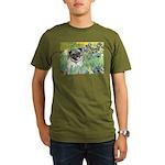 IRISES-Pug18-fawnsmile.png Organic Men's T-Shirt (