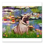 MP-LILIES2-Pug1.png Square Car Magnet 3