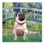 MP-BRIDGE-Pug1.png Square Car Magnet 3
